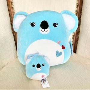 NWT Squishmallows Valentines Koala + Clip on
